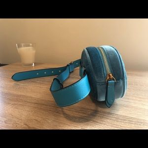 Handbags - Blue Suede BELT BAG